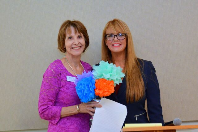 Nina Gray with speaker Niccole Howard